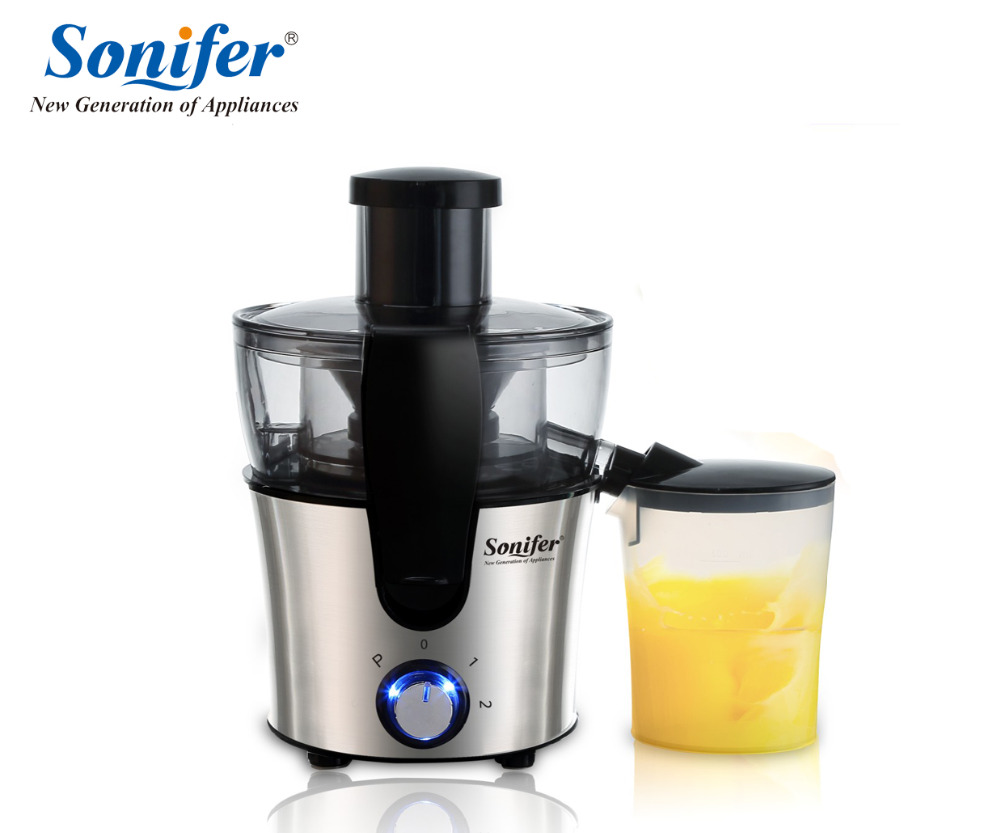 Dual Speed Fruit And Vegetable Juice Extractor Removable Stainless steel Juicers Fruit Drinking Machine For Home Sonifer household electric juicer fruit juice maker machine automatic vegetable low speed extractor mixer