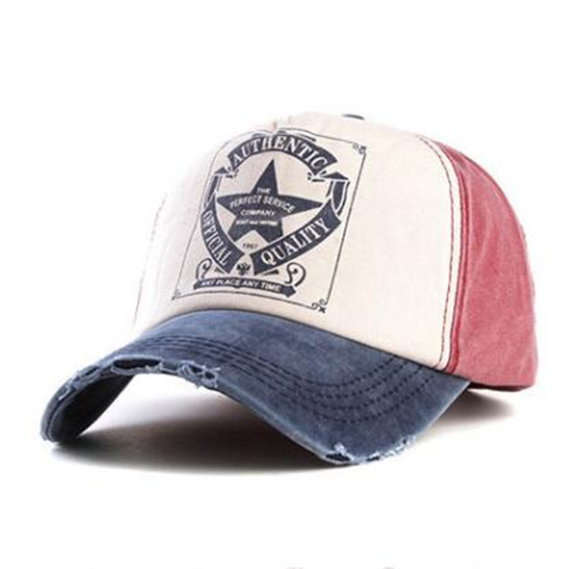 34cb2447 US $5.41 5% OFF|Five Star Vintage Baseball Cap Trucker Hat Washed  Multicolor Cotton Caps Hip Hop Hats Adjustable For Men And Women-in  Baseball Caps ...