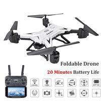 Ky601s rc 헬리콥터 무인 항공기 hd 1080 p 와이파이 fpv selfie 드론 전문 foldable quadcopter 20 분 배터리 수명 drona