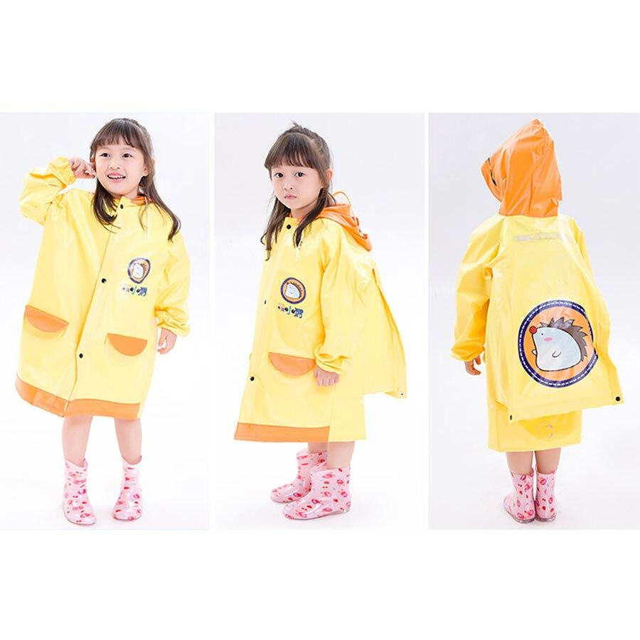 Women Rain Coat Poncho Outdoor Waterproof Children Raincoat Rain Hat Girls Boy Jaqueta Impermeavel Rainwear Poncho Kids 50KO116 in Raincoats from Home Garden