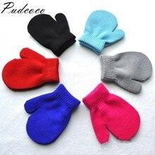 Pudcoco/Новинка года; брендовые Детские варежки для малышей; перчатки для мальчиков и девочек; однотонные зимние детские теплые перчатки; 7 цветов