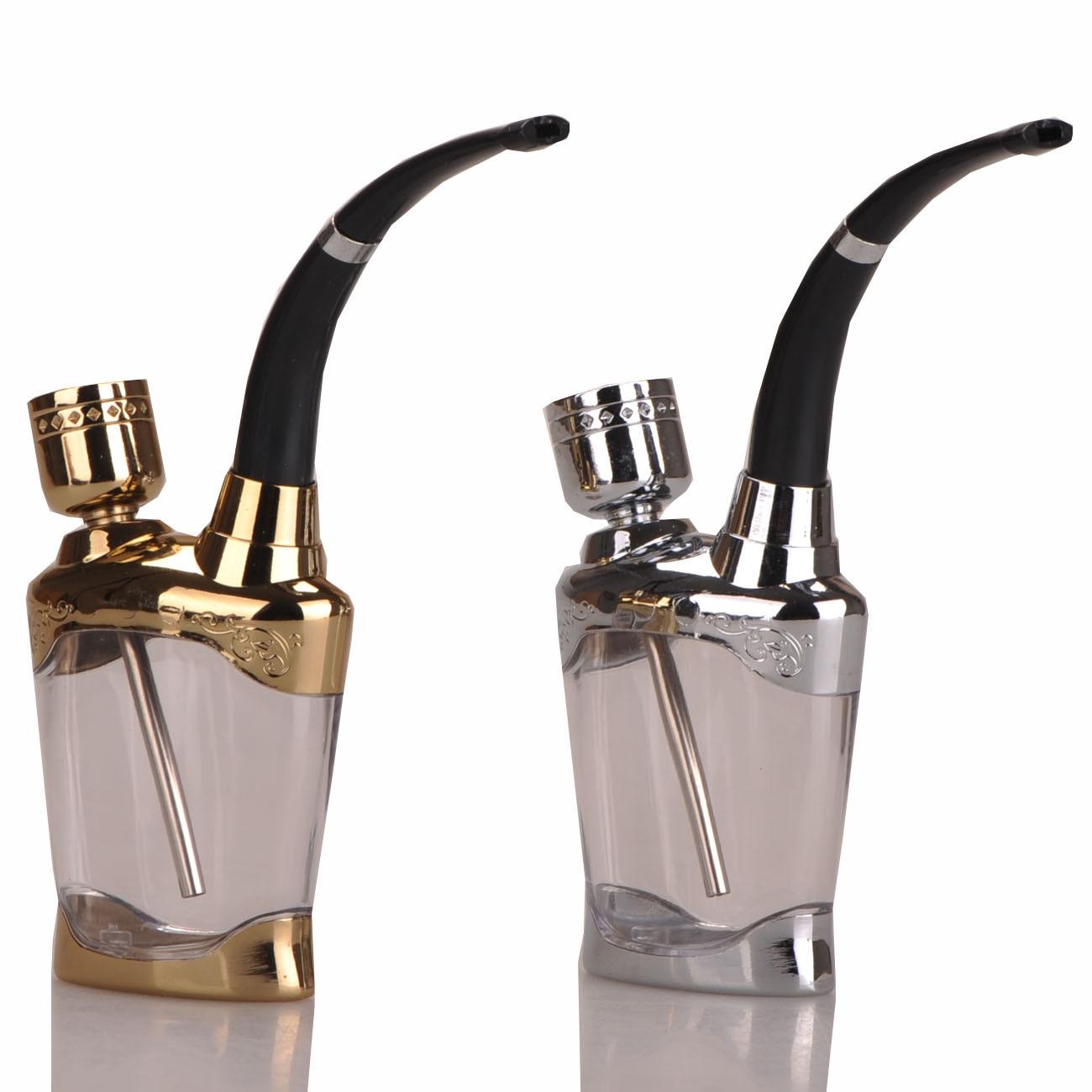 Gold Silver Portable Metal Smoking Pipes Cheap Water