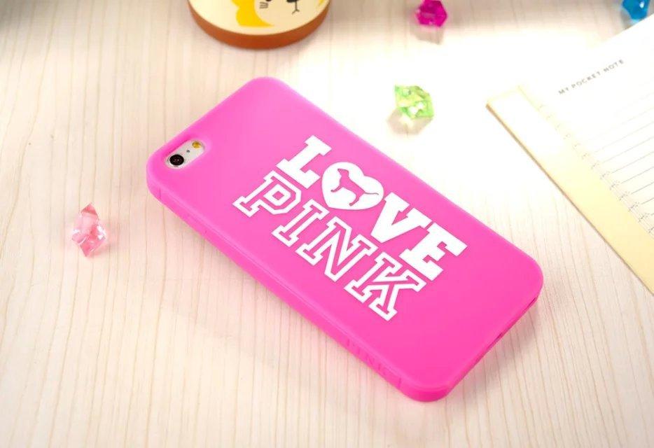 Love Pink Victoria/'s Secret Cute Dog Design Soft Rubber Cover iphone 6 Plus 5.5'' Silicone Phone Cases Sales - Shen zhen HW (3C store Digital Accessories Company)