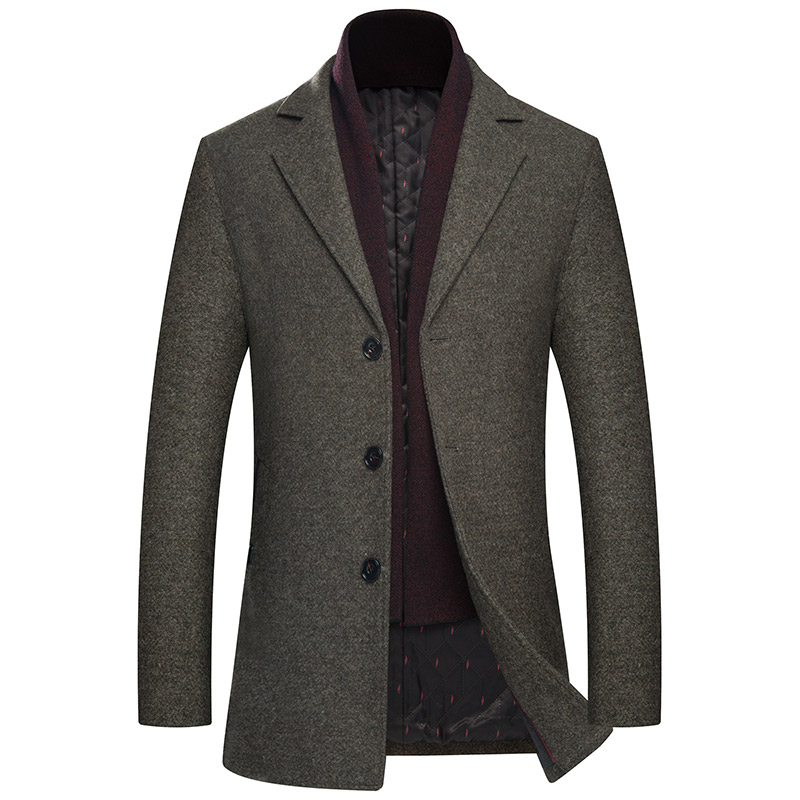 Back To Search Resultsmen's Clothing Wool Blends Long Coats Men Stand Collar Smart Casual Style Jacket Winter Solid Color Fur-collar Menswear Grey Light Coffee F038