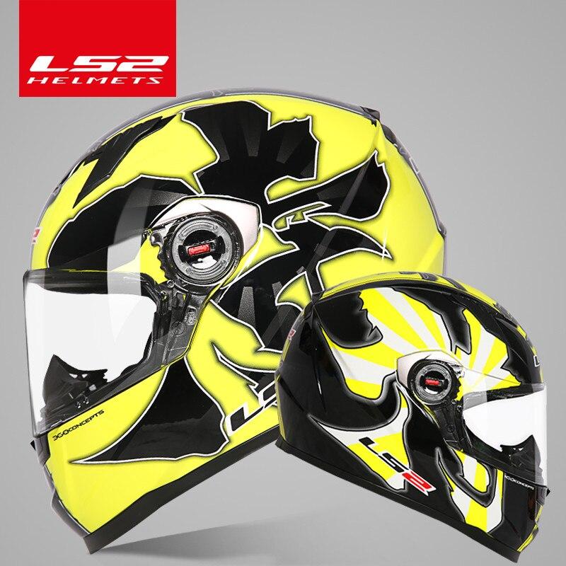 D'origine LS2 FF358 plein visage moto rcycle casque ls2 moto cross racing homme femme casco moto casque LS2 ECE approuvé pas de pompe - 4