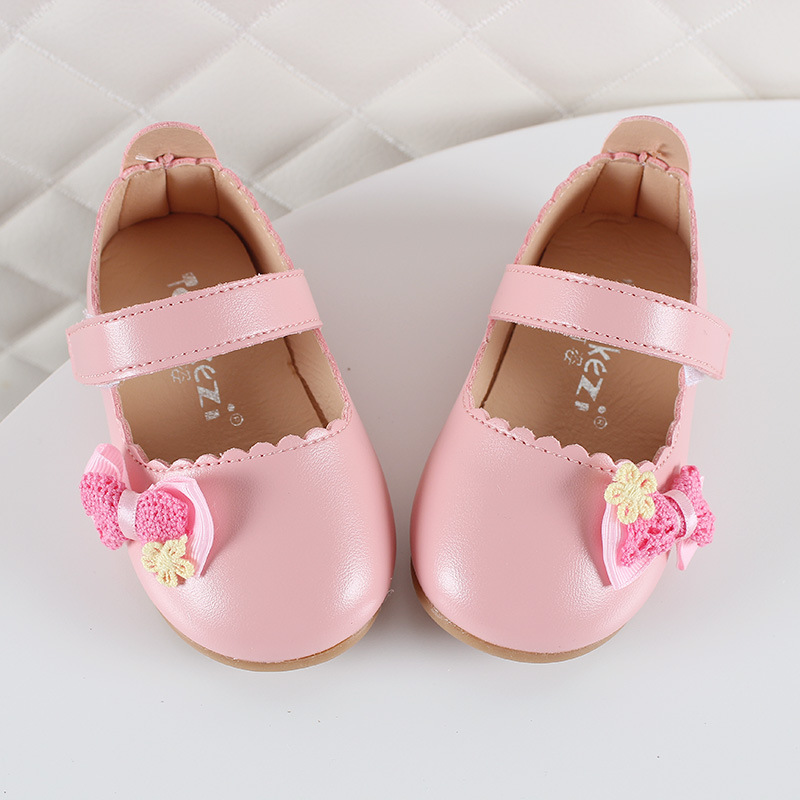 COZULMA Baby Girl Princess Weave Bowtie Shoes Toddler Kids Party Anti-slip Flat Casual Shoes Baby Shoes Enfants Size 15-25