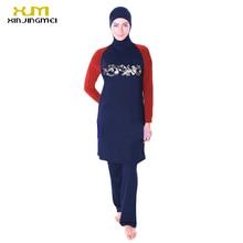 2017 New Muslim Swimsuits For Women Plus Size Conservative Islam Alba Style Water Sports Beach Swim Bath Suit