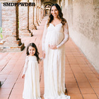 SMDPPWDBB Maxi Lace Maternity Photography Dresses Long Sleeve Maternity Lace Gown Photo Shoot Stretchy Lace Pregnancy Dress