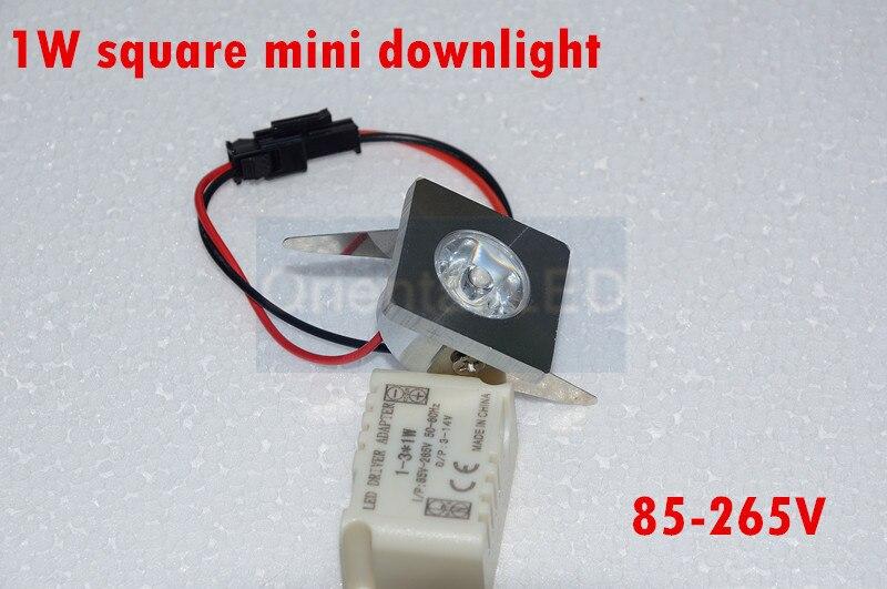 10pcs/lot 1W Mini square LED Star light, led cabinet light, mini led downlight 85-265v CE ROHS ceiling lamp free shipping