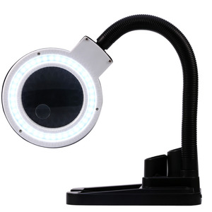 Image 5 - Multi function Magnifying Crafts Glass Desk LED Lamp 5X &10X Magnifier+40 LED Light+Desktop Loupe Repair Tools  tool box stand