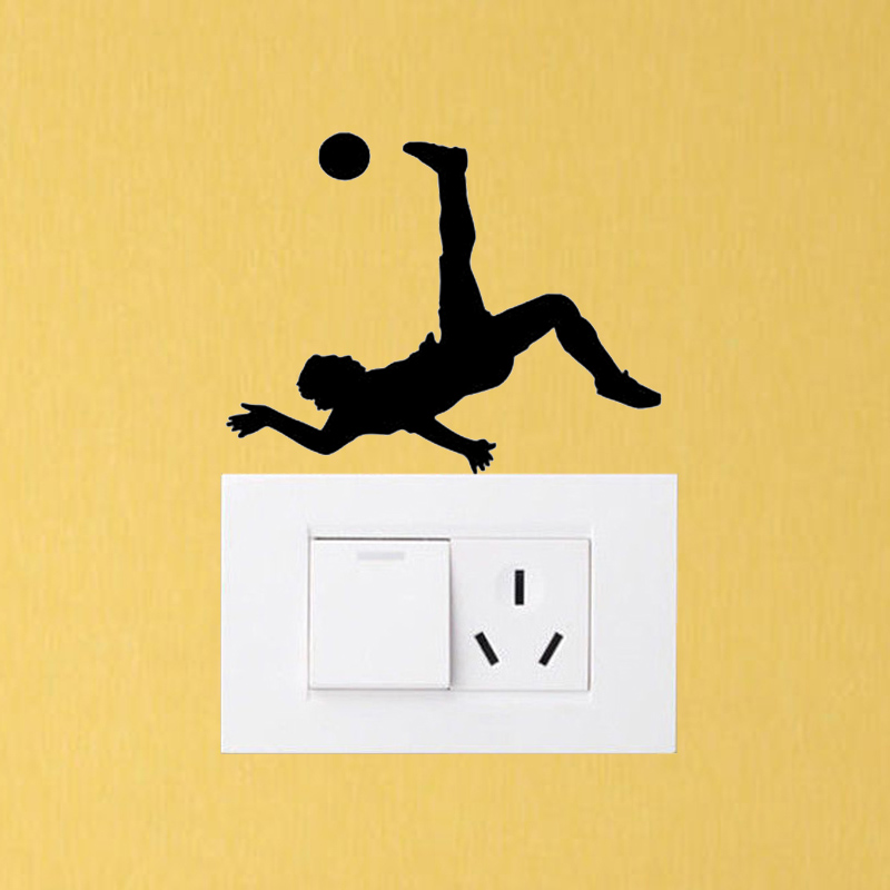 Gym Sport Soccer Player Vinyl Bedroom Decor Wall Decals Switch Stickers  5WS1475(China (Mainland