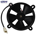 GOOFIT 12V DC Radiator Cooling Fan for  Water-cooled ATV Quad Go-kart 200cc 250cc Black F038-016
