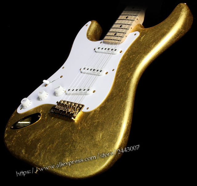 GC Custom Shop Todd Krause Master Built Eric Clapton Electric Guitar Gold Leaf - Right or Left-Handed? 3