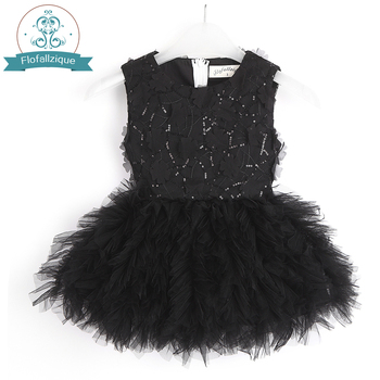 2021 Baby Girl Tutu Dress Costume For Kids Sleeveless Christening Tulle Sequined Wedding Party Princess Toddler Clothes 1