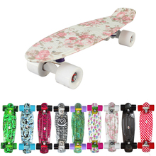 "New 2016 Custom Peny Skateboard Graphic series 22"" Retro Mini Skate Fish Long Board cruiser longboard complete skates patins(China)"
