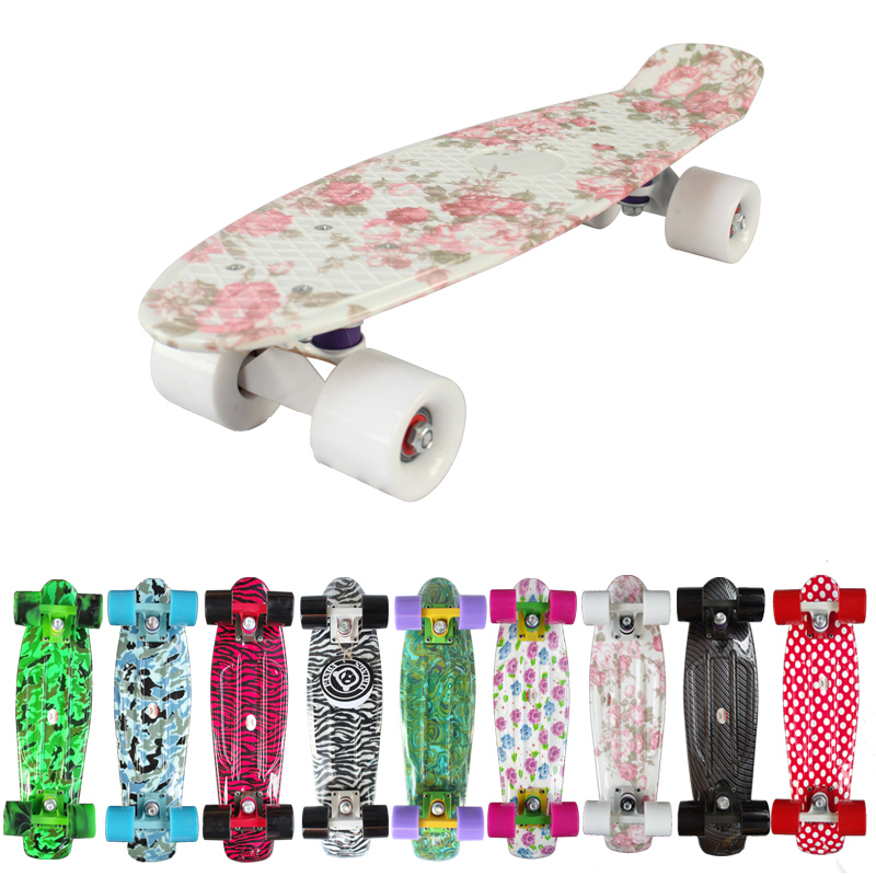 "New 2018 Custom Peny Skateboard Graphic series 22"" Retro Mini Skate Fish Long Board cruiser longboard complete skates patins"