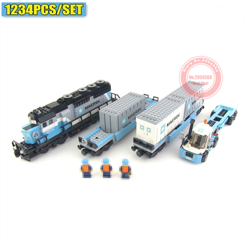 New Ultimate Series The Maersk Train fit technic 10219 city remote control Building Block Bricks diy Toy Birthday gifts image