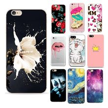 Floral Flower Case For Iphone 5 S 5S SE 6 6S 7 8 Plus X XS Coque Soft TPU Funda Silicon Capas For Iphone 6 S 6S Case(China)