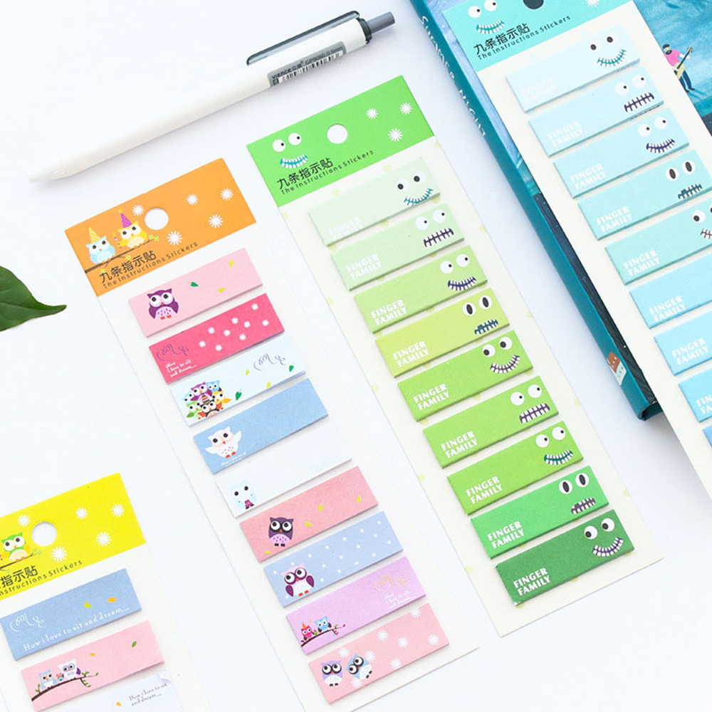 Student Creative Cute Lovely Memo Pad Instructions Stickers Cartoon Post it Note Bookmark School Supplies WJ-BJB-28/
