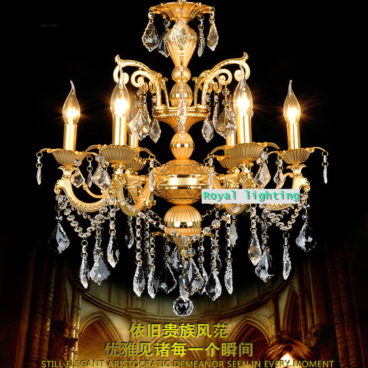free shipping Antique cafe light chandelier candelabra bedroom Led crystal chandelier Europe vintage kitchen lamp hanging light
