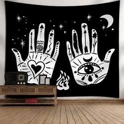 Мандала гобелены настенный колдовство Хиппи Пляж пледы ковры Луна путешествия Boho богемный дом книги по искусству психоделические
