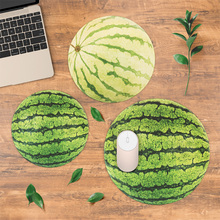 4mm thicken Summer Watermelon Circle Round Lockrand Gaming Working Personalized Mouse Mice Pad Mat 22 25 30cm