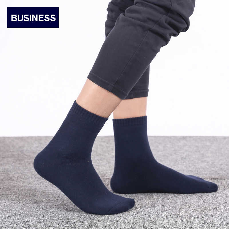 18c27b479efc5 5Pairs/Lot Eur39-44 Men Winter Thicken Terry Business Cotton Socks Male  High Quality