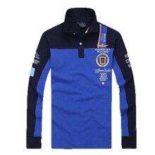 New Arrival aeronautica militare men long sleeve T-shirt fashion style male letter-printed Turn-down Collar Tees