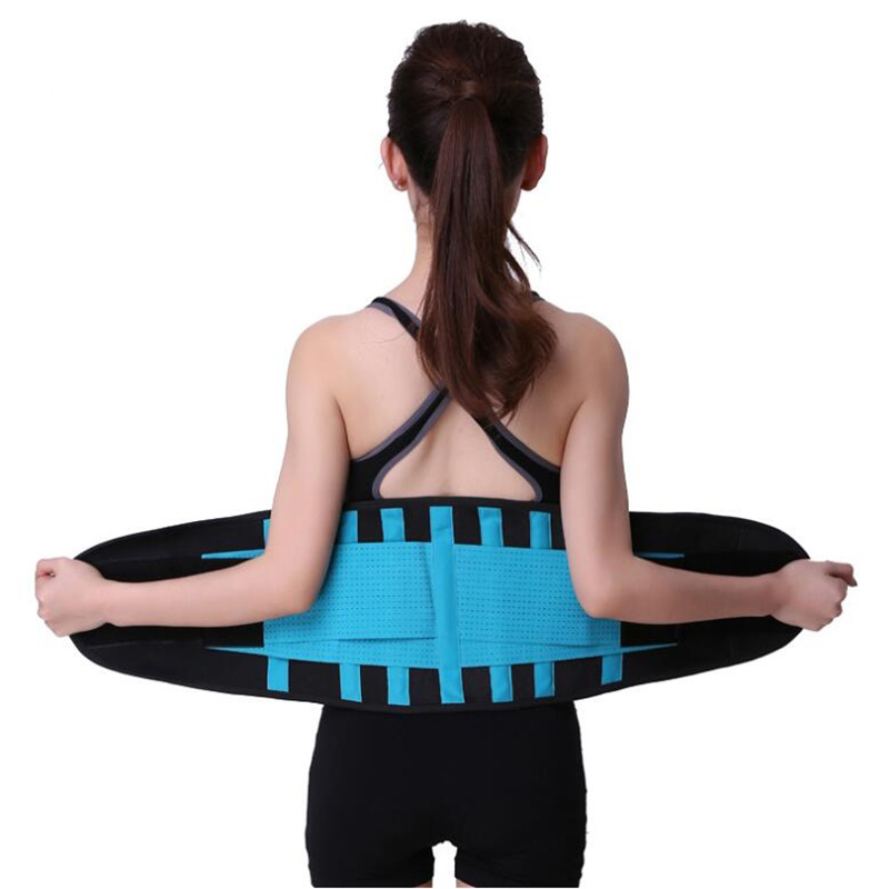 10 Colors Sport Accessories Back Support Brace Belt Lumbar Lower Waist Double Adjust Back Pain Relief Waist Support