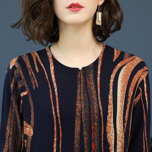 Image 5 - YISU Women Sweater 2019 fashion Spring Autumn Warm Pullovers Sweater stripe Printed Sweaters Female Knitted sweaters Female