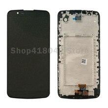 Para LG K10 K410 K420 K430 Pantalla LCD Con Pantalla Táctil Digitalizador Asamblea con Marco Negro Libre Del Envío