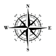 Compass Stickers On The Cars Cute Vinyl Auto Goods Decals Inscriptions Truck New Style Motorcycle Accessories Decoration Decal