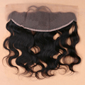 Human Hair Brazilian Lace Frontal Closure 13x4 With Baby Hair Free Bleached Knots Virgin Body Wave Lace Frontals