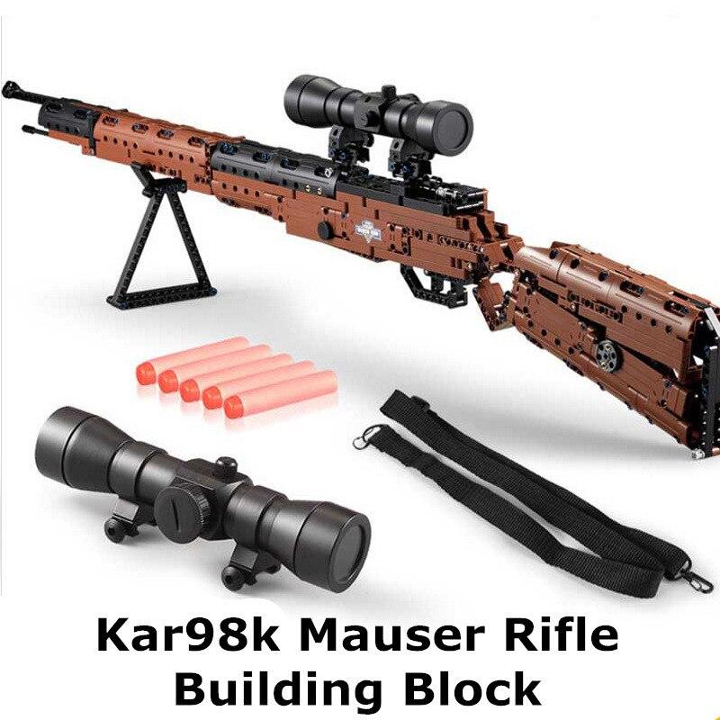 653pcs Shooting Model Building Kit DIY Building Blocks Toy Gun C61010 Kar98K Rifle Gun Action Toy For Kids653pcs Shooting Model Building Kit DIY Building Blocks Toy Gun C61010 Kar98K Rifle Gun Action Toy For Kids