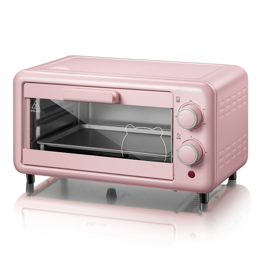 Home Cooking Mini Oven 11L Stainless Steel Electric Oven Pizza Oven Cake Toaster Kitchen Appliances DKX D11B1 220V/ 800W