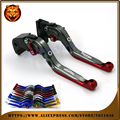 Adjustable Folding Extendable Brake Clutch Lever For TRIUMPH 675 STREET DAYTONA SPEED TRIPLE  06 09 14 FREE SHIPPING Motorcycle