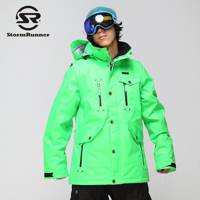 9a4991917 StormRunner Men's snowboard jacket light green snow jacket outdoor sport  snow jacket for men
