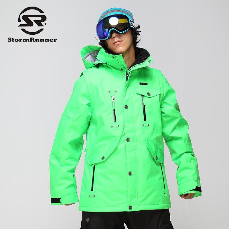 Stormrunner Для Мужчинs сноуборд куртка светло-зеленый снег куртка спортивная куртка для снежной погоды для Для мужчин ...