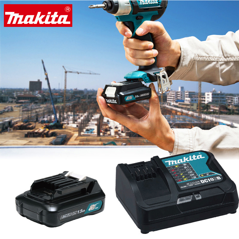 Japan Makita 12V Lithium Battery Charger DC10WD For Charging Drill Electric Screwdriver Lithium Battery Charger 4 string 12v high current lithium iron phosphate lithium battery charger 4a 14 8v rechargeable lithium battery