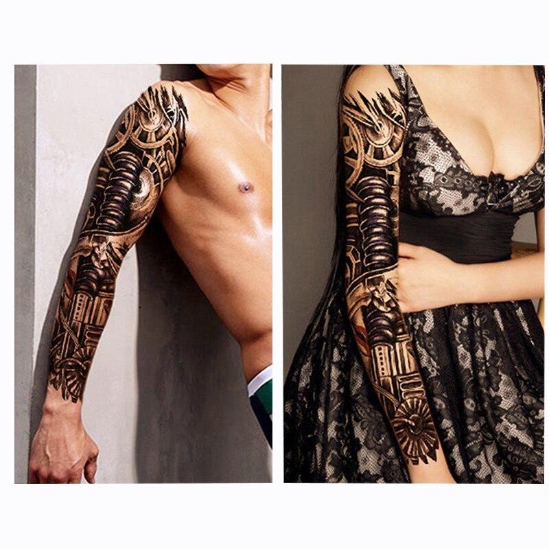 4 Unidsset Grandes Tatuajes Temporales Pegatinas Brazo Completo