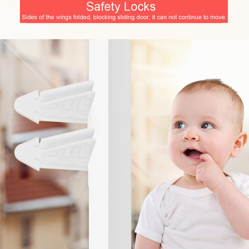 5PCS Children Safety High Quality Child Lock Child Safe Locks Easy Kids Baby Safety Security Sliding Window Locks For Push Door