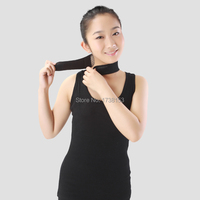 1pc Fashion Magnetic Therapy Neck Support Protection Spontaneous Tourmaline Heating Headache Belt Neck Massager Magnet Stones