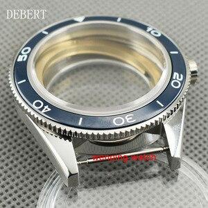 Image 4 - DEBERT coque de montre daffaires à lunette en céramique 41mm, compatible avec Miyota 8205/8215,ETA 2836 DG2813/3804, mouvement mécanique automatique