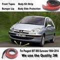 Car Bumper Lips For Peugeot 807 806 Eurovans 1994~2014 Front Spoiler Deflector / Body Kit / Strip Skirt / Anti-Scratch Stickers