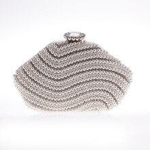 2016 New Listing Elegant Pearl Dinner handbag Irregular Elegant Charm Lady font b Clutch b font