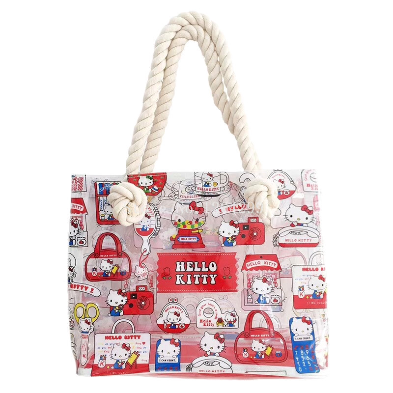 df640d4d4138 Detail Feedback Questions about New Fashion Hello Kitty Girls Woman PVC  Transparent Shoulder Bags Handbags Kids Shopping Bag For Children on  Aliexpress.com ...