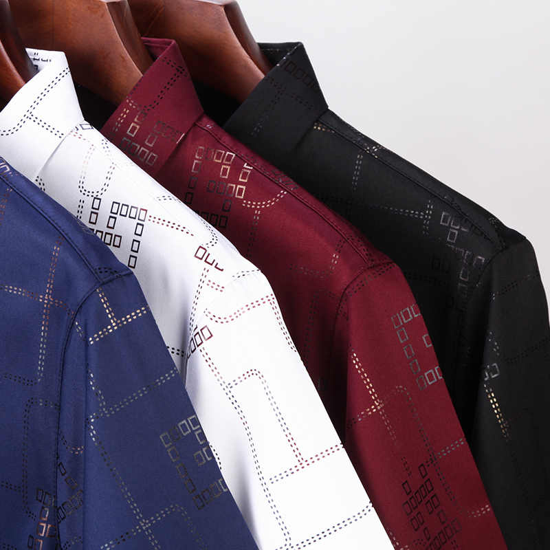 Miacawor новая футболка с коротким рукавом Для мужчин летние мужские рубашки, брендовые, дизайнерские, Chemise Homme Slim Fit Повседневное рубашки Camisa Masculina C502