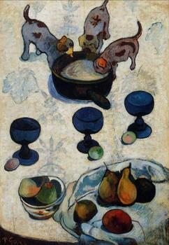 High quality Oil painting Canvas Reproductions Still Life with Three Puppies (1888) by Paul Gauguin hand painted