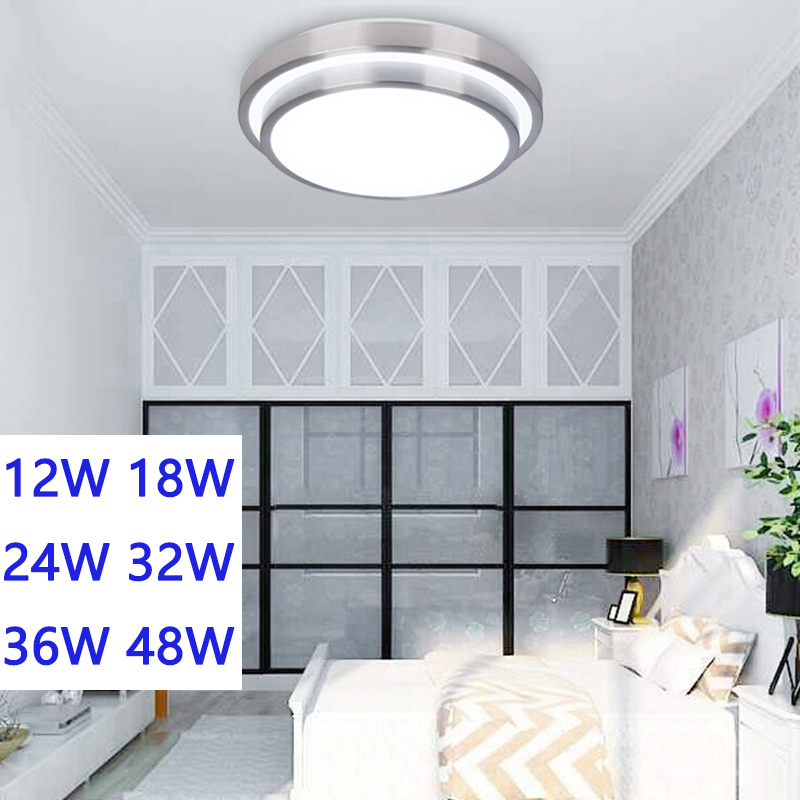 LED Ceiling lights lamp 12W 18W 24W 36W 48W Aluminum and Acrylic Double aluminium indoor lighting Bedroom living kitchen light american country bedroom corridor balcony lamp led 12w 18w 24w round led ceiling light indoor lighting lamps ac 110v 220v