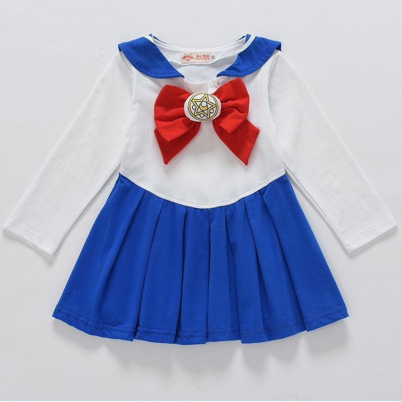 Cute Anime Kid Baby Girls Sailor Moon Cosplay Costumes Bowknot Dress Kawaii Lolita Sailor Uniform  Baby Girls DressCute Anime Kid Baby Girls Sailor Moon Cosplay Costumes Bowknot Dress Kawaii Lolita Sailor Uniform  Baby Girls Dress